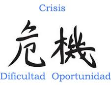 ideograma chino crisis