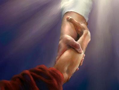 dar la mano para ayudar